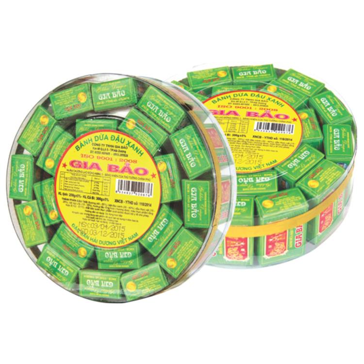 家宝绿豆椰子饼 圆盒
