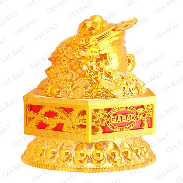 Hộp cóc vàng lục giác có đế